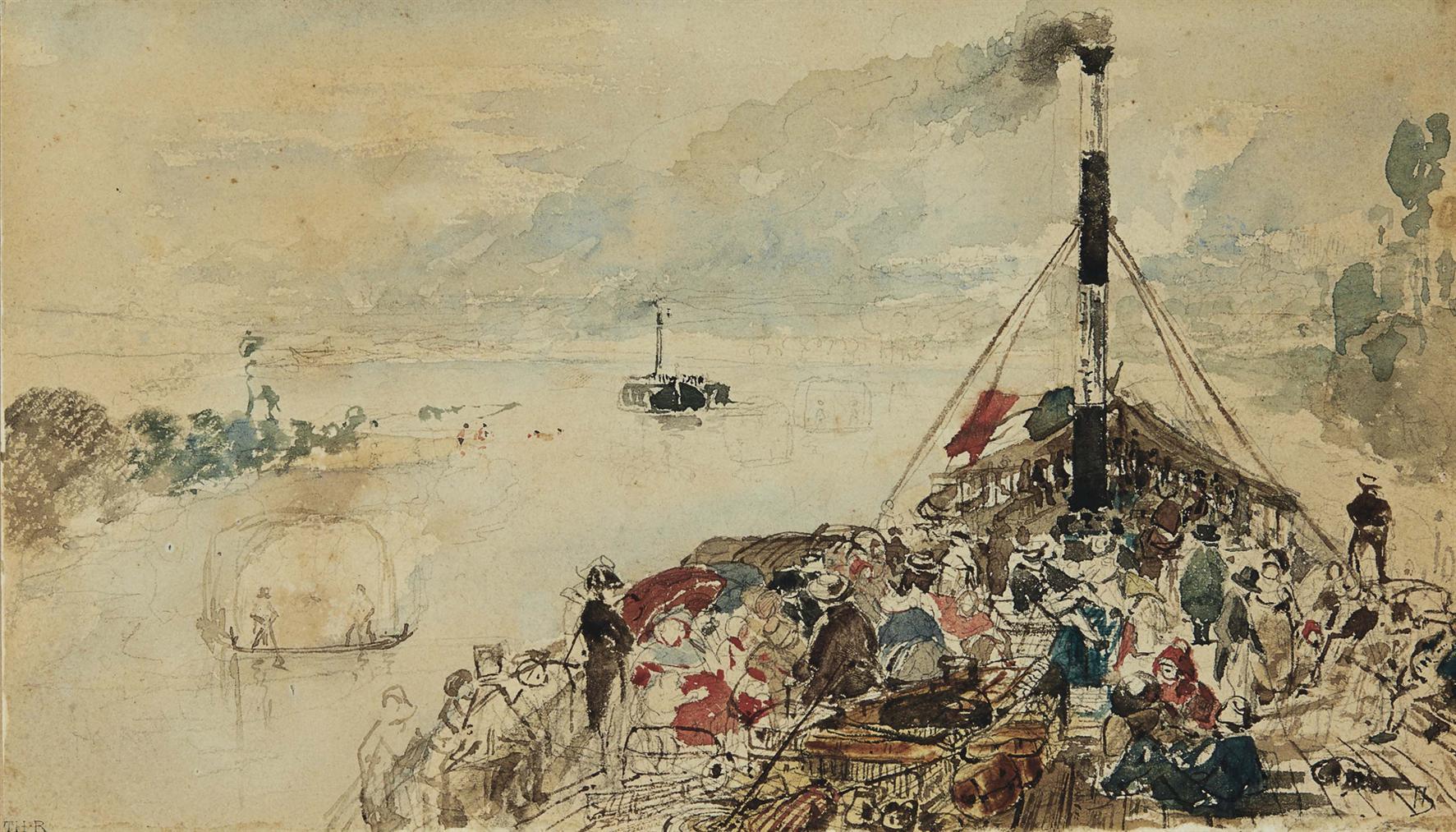 Theodore Rousseau-Promenade En Bateau-