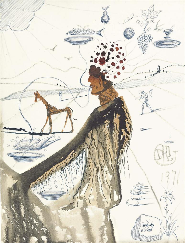 Salvador Dali-The Earth Goddess Ou Le Restaurateur-1971