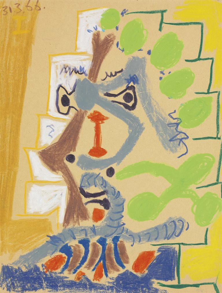 Pablo Picasso-Tete Dhomme-1966