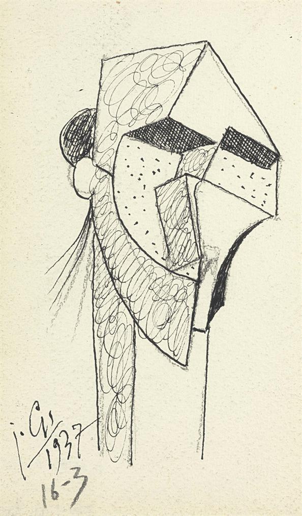 Julio Gonzalez-Tete Bizarre-1937