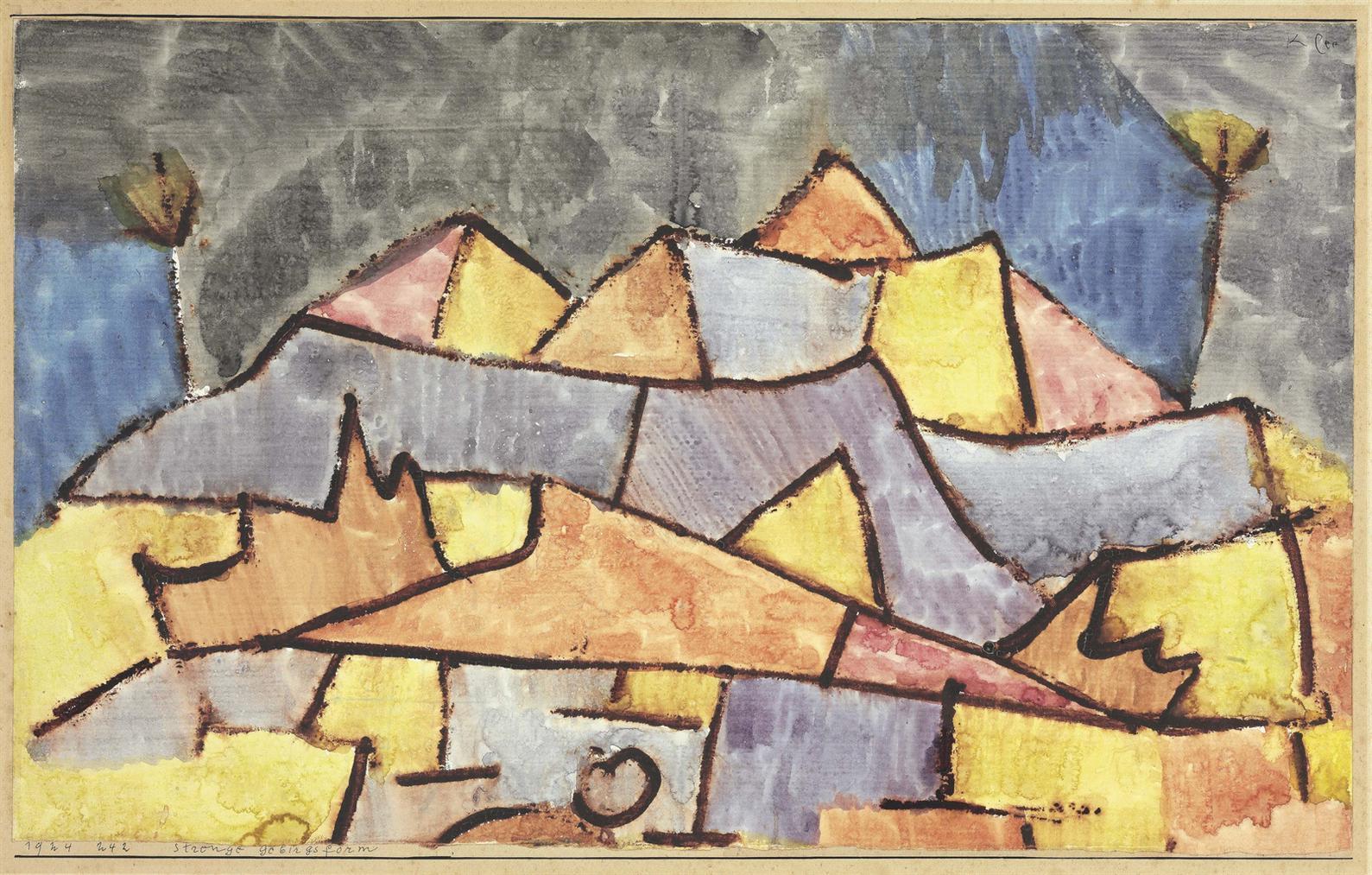 Paul Klee-Strenge Gebirgsform, Kristallines Gebirge-1924