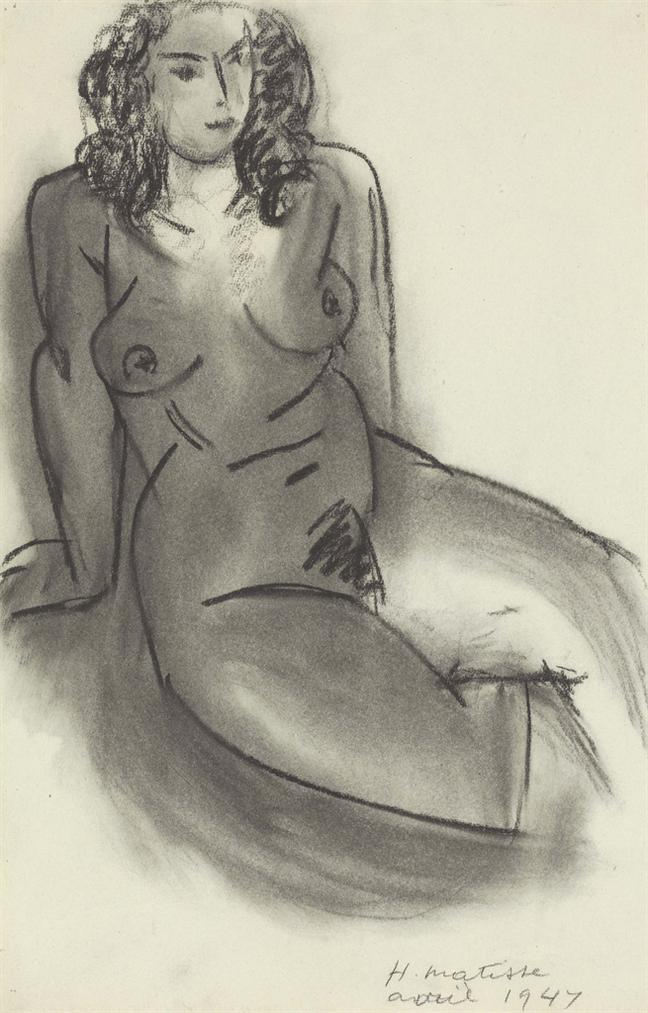 Henri Matisse-Femme Nue Assise-1947