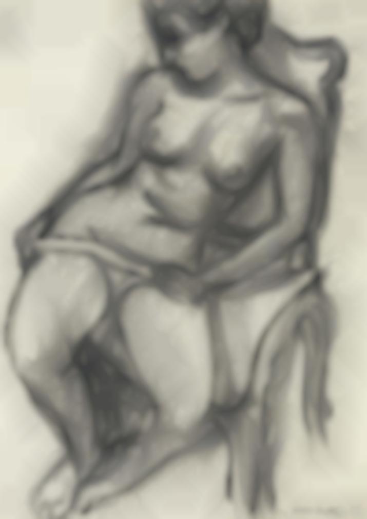 Henri Matisse-Nu Dans Un Fauteuil-1935