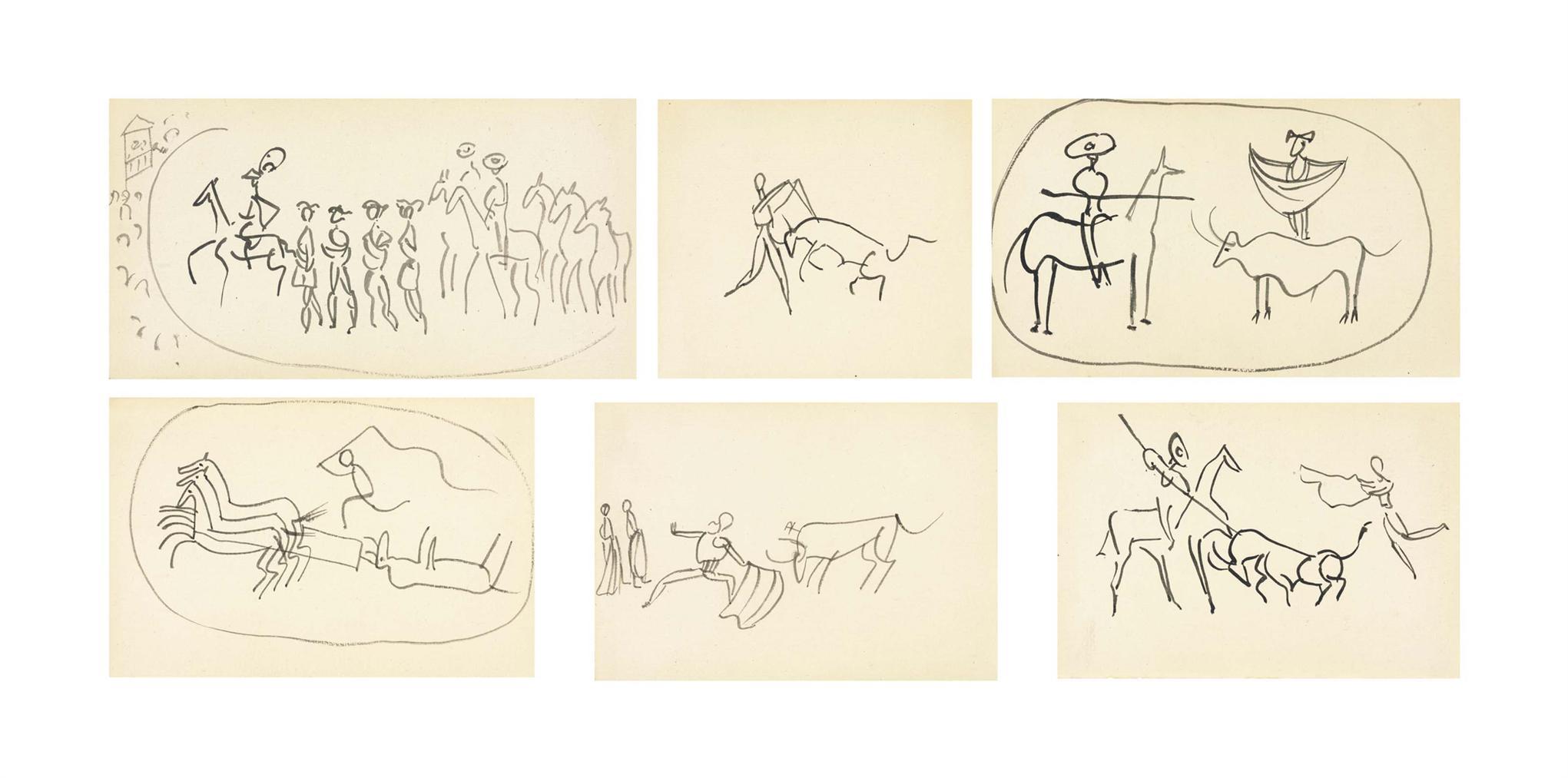 Pablo Picasso-Corrida (Six Etudes)-1919