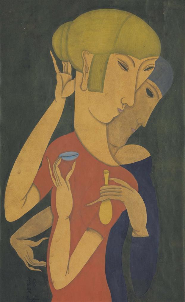 Tsuguharu Foujita-La Degustation-1917