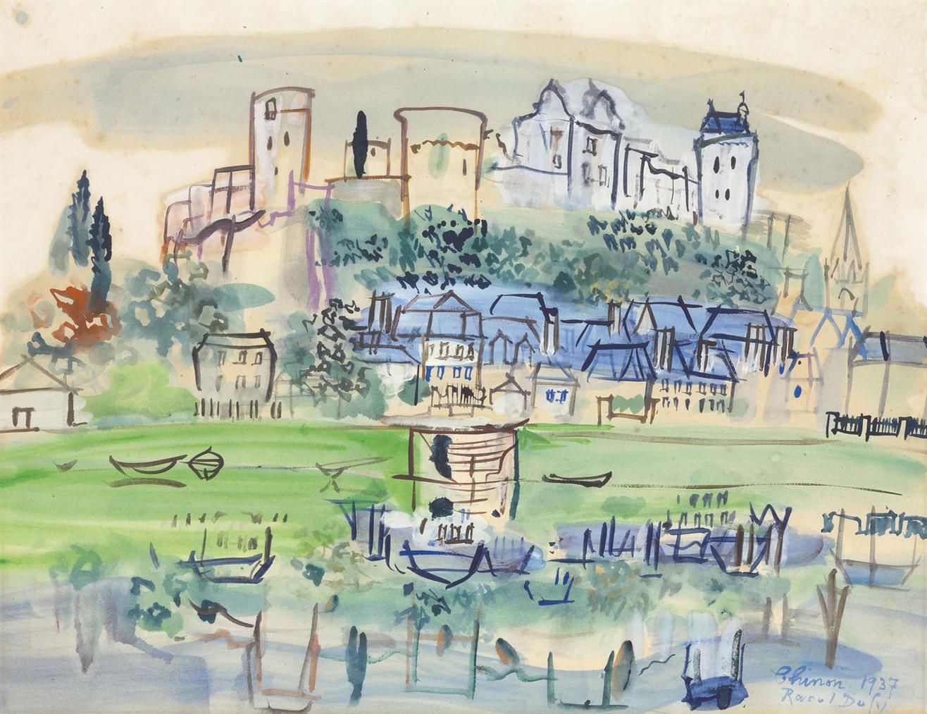 Raoul Dufy-Chinon-1937