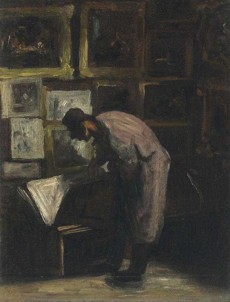 Honore Daumier-Lamateur Destampes-1860