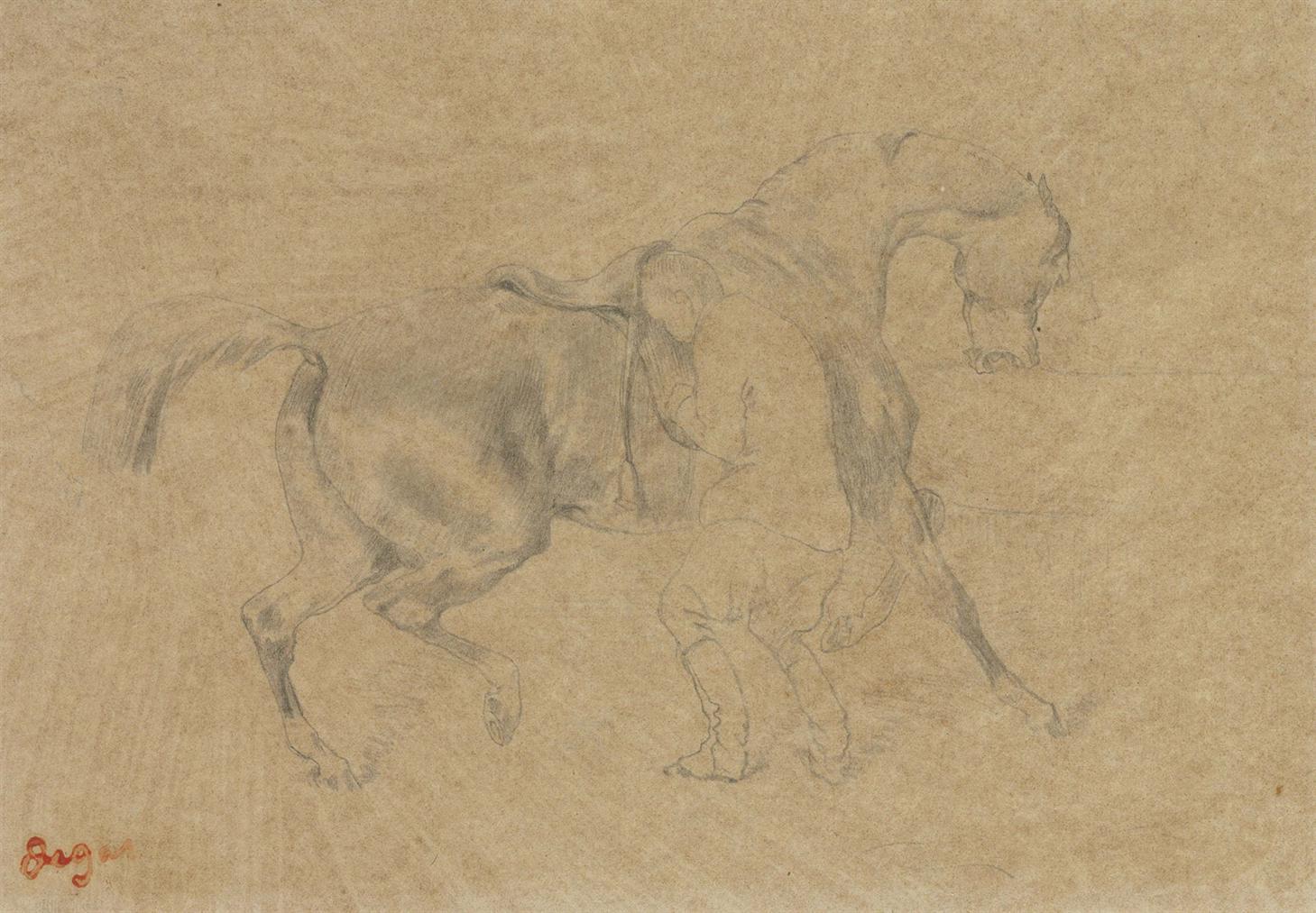 Edgar Degas-Chevalier-