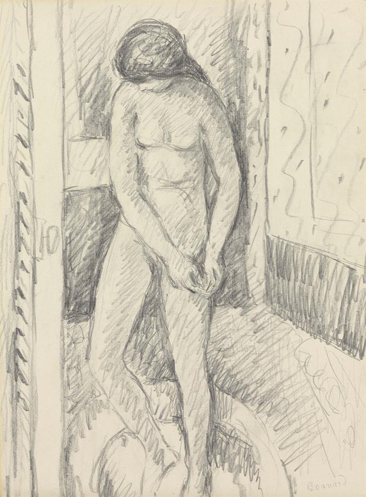 Pierre Bonnard-Nu Debout A Sa Toilette-