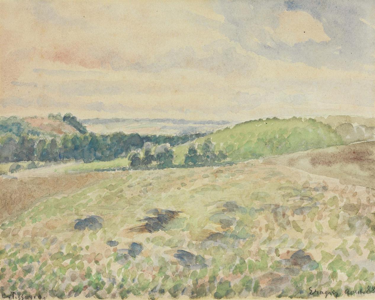 Camille Pissarro-Terrain Laboure-1888