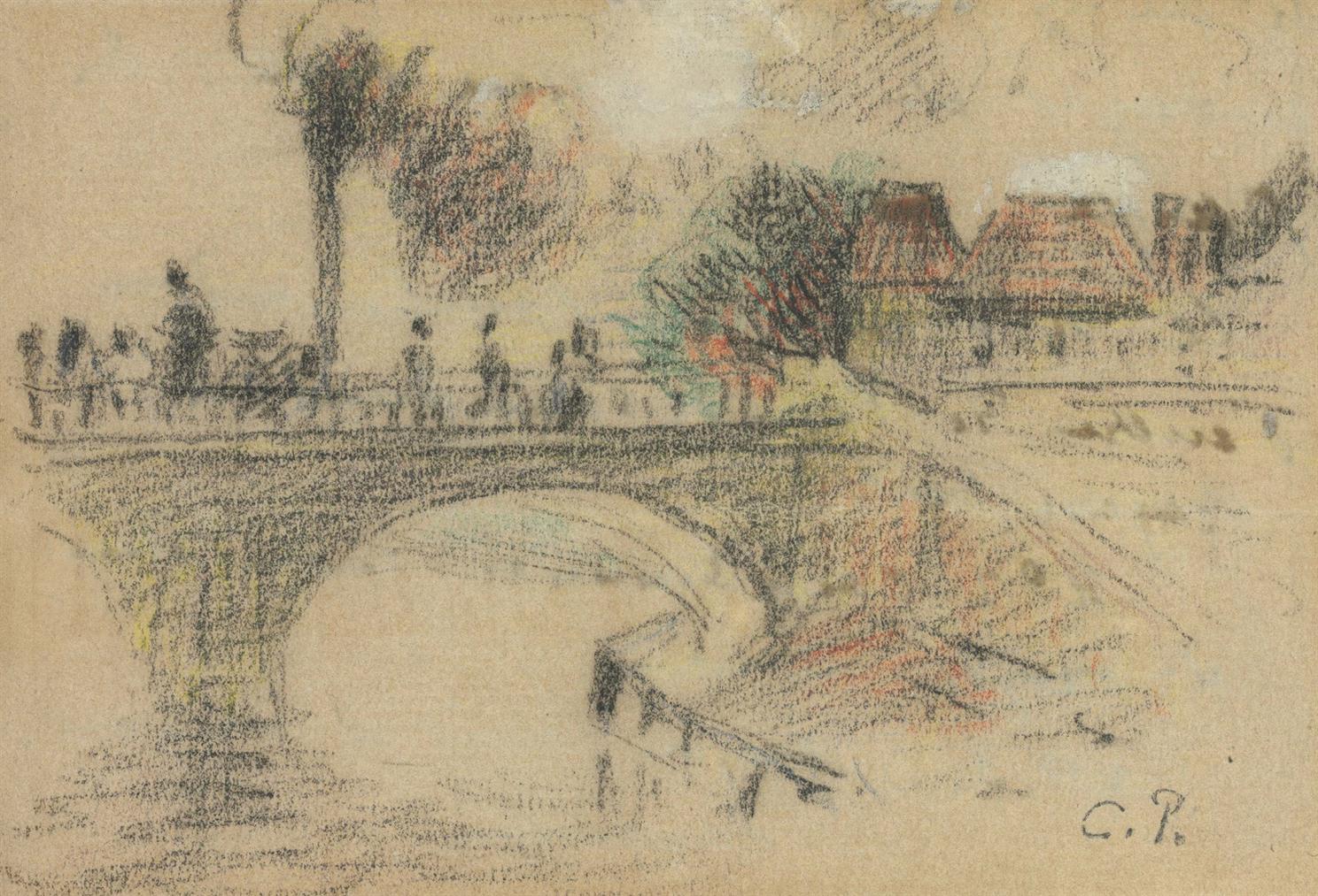 Camille Pissarro-Le Pont Corneille A Rouen-