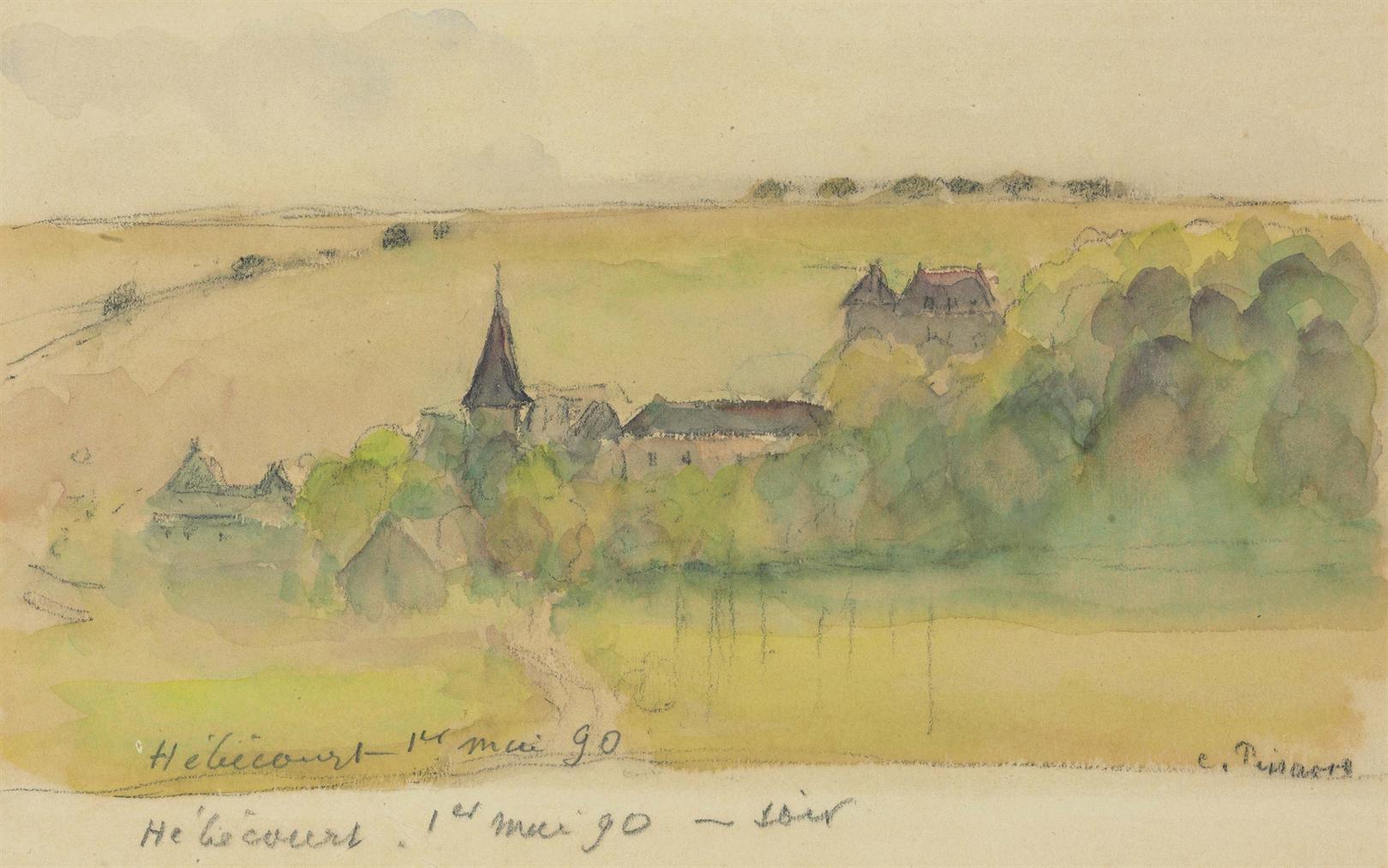 Camille Pissarro-Paysage A Hebecourt-1890