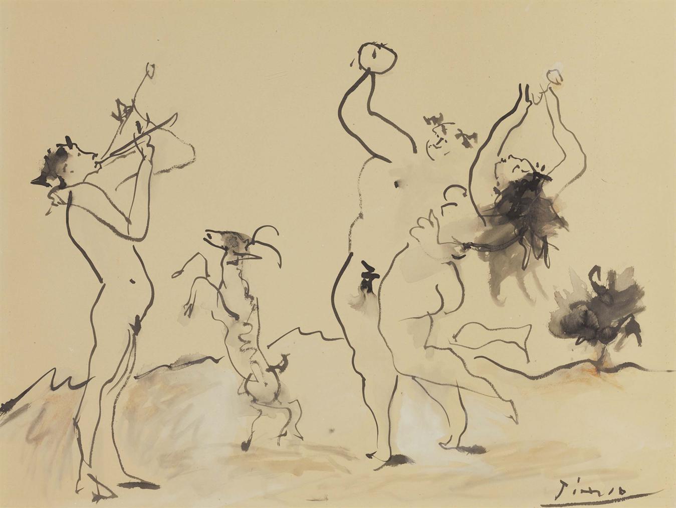Pablo Picasso-Bacchanale-1955