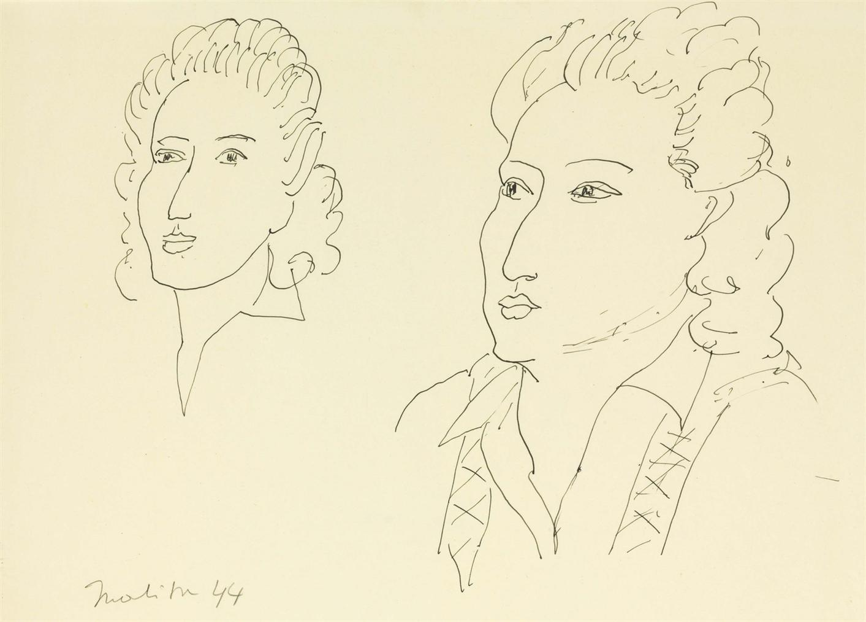 Henri Matisse-Deux Tetes-1944