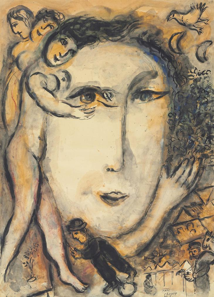 Marc Chagall-Le Visage-1973