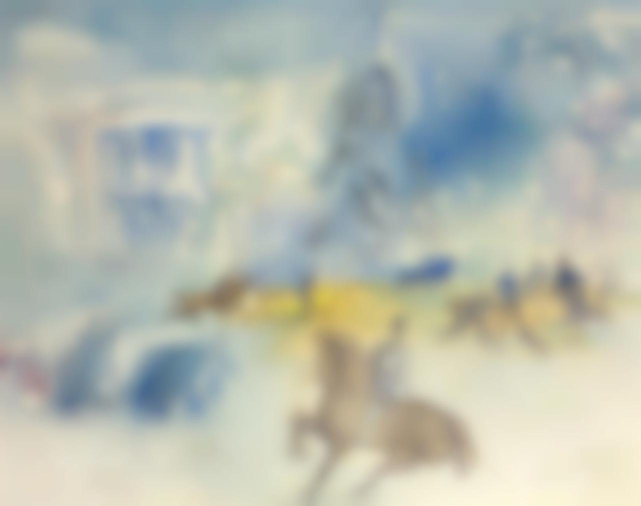 Jean Dufy-Cavaliers Au Bois De Boulogne-1928