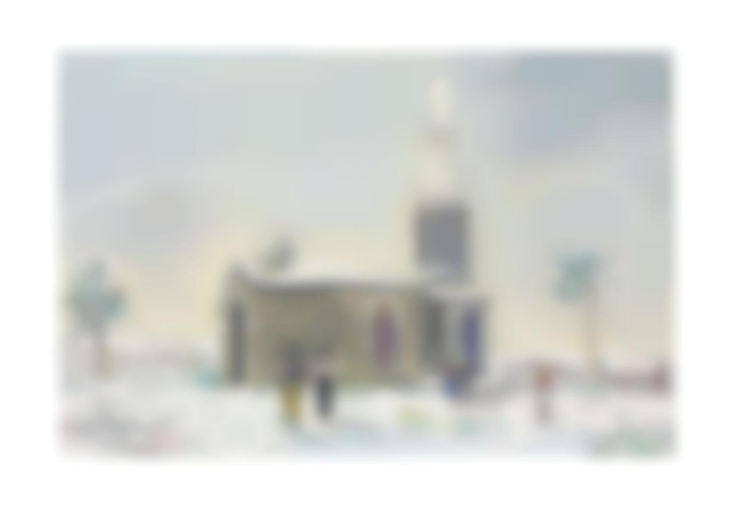 Maurice Utrillo-Chapelle Notre-Dame De Buisante Sous La Neige, Pommiers (Rhone)-1933
