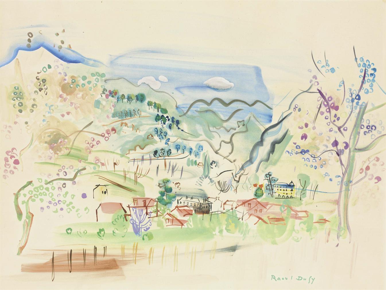 Raoul Dufy-Les Pyrenees-1942