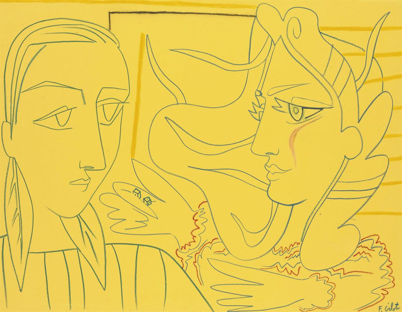 Francoise Gilot-Deux Femmes-1953