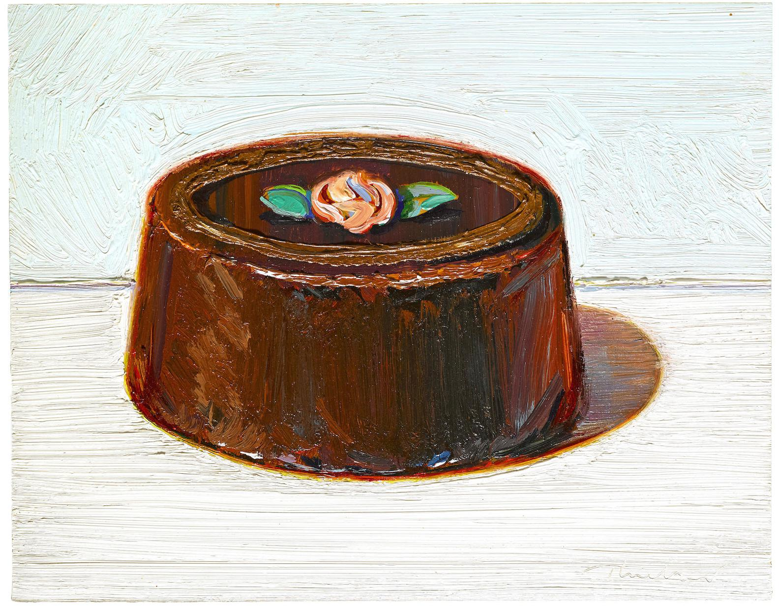 Wayne Thiebaud-Camellia Cake-1995