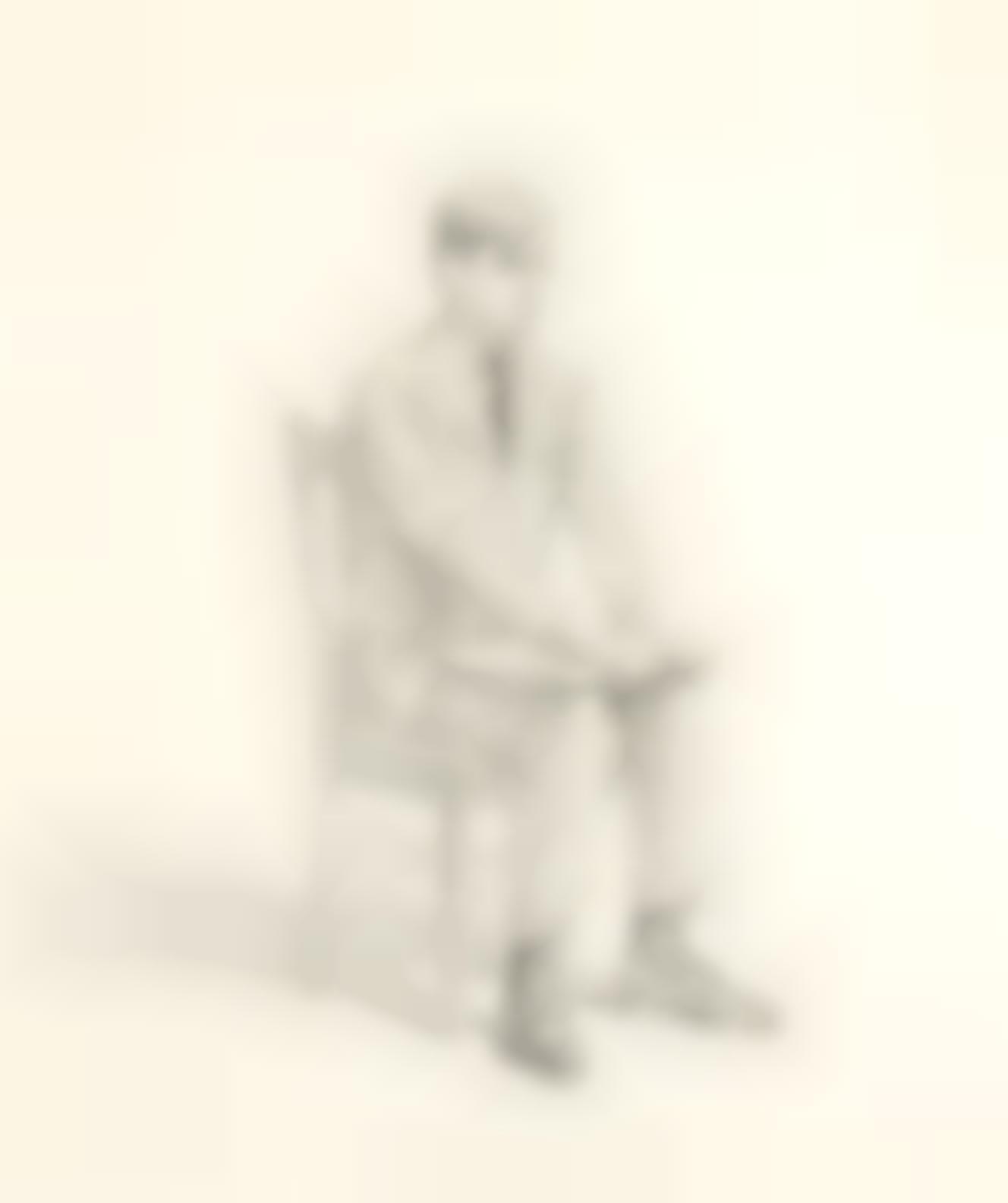 Wayne Thiebaud-Portrait Of Bill Ittman-1966