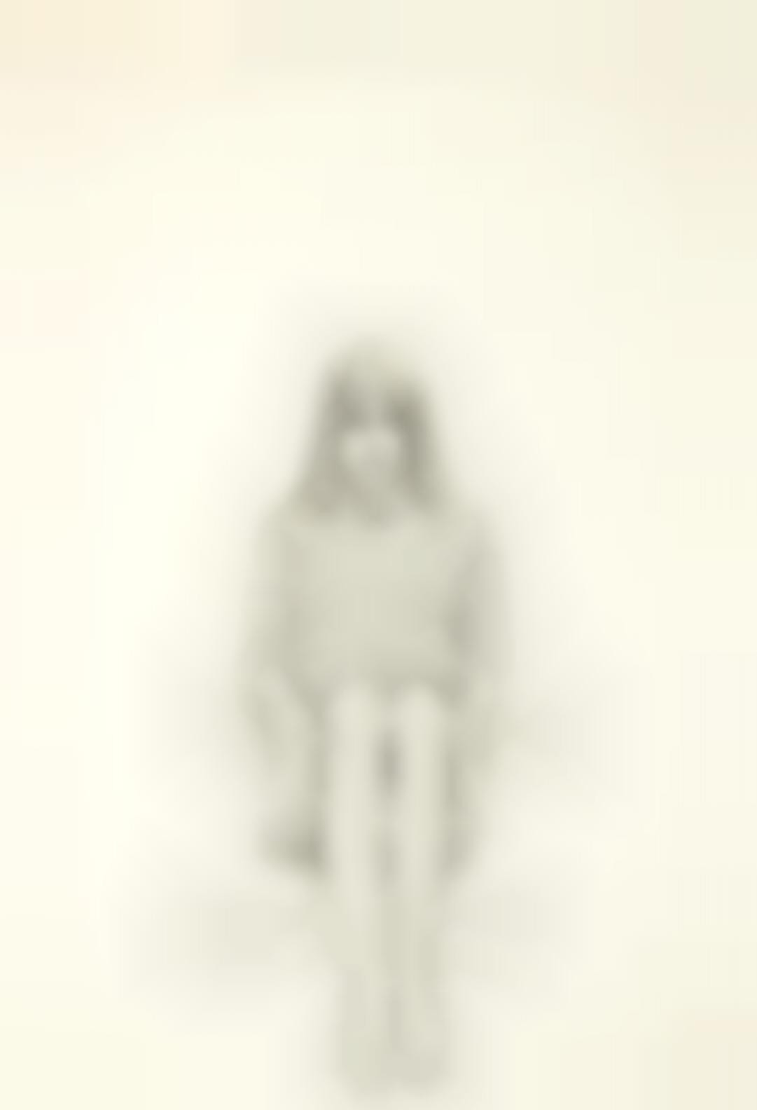 Wayne Thiebaud-Girl In Striped Sweater-1965