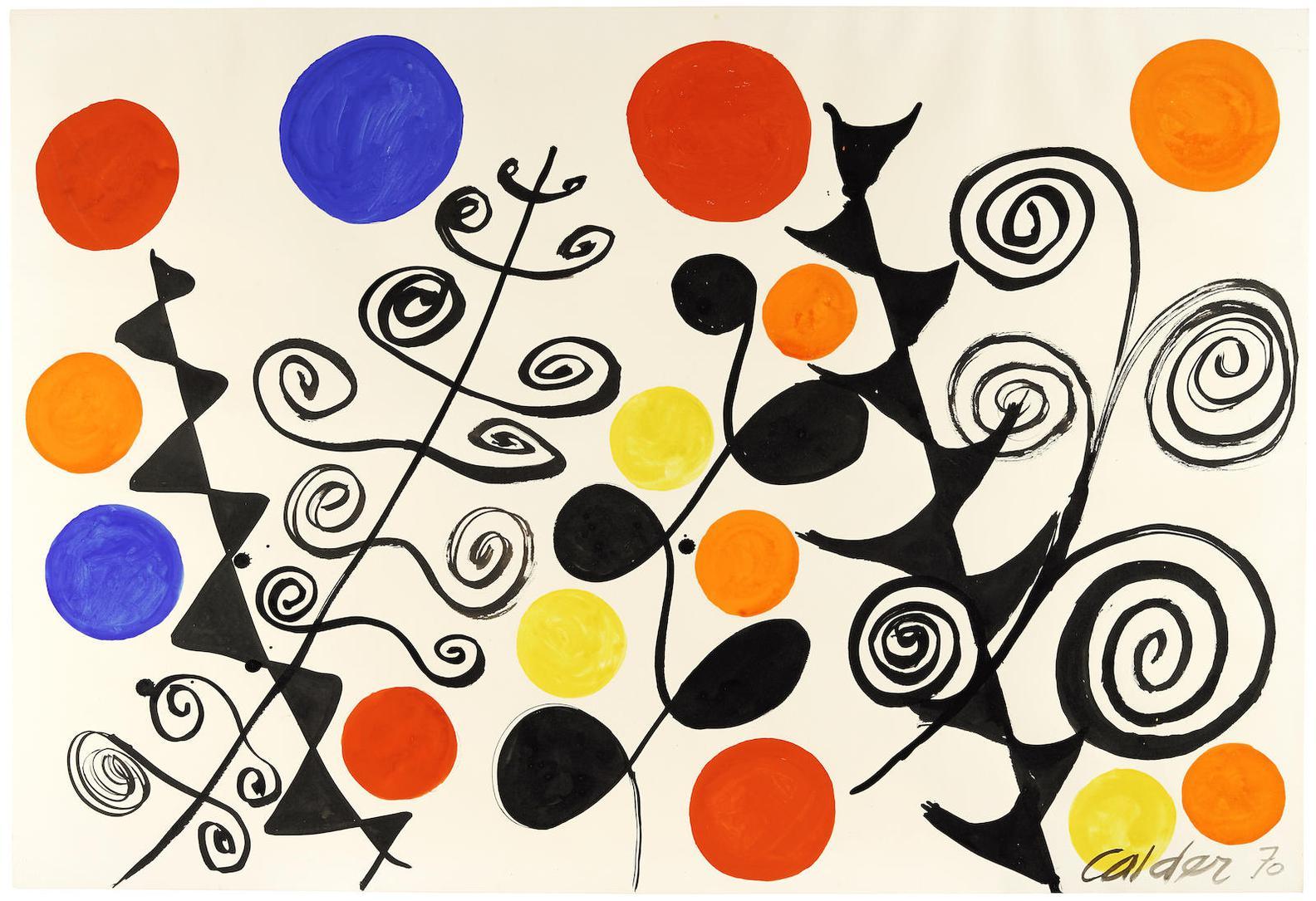 Alexander Calder-Various Leaves-1970