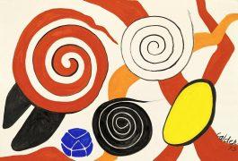 Alexander Calder-Red Spiral, White Spiral, Black Spiral-1973