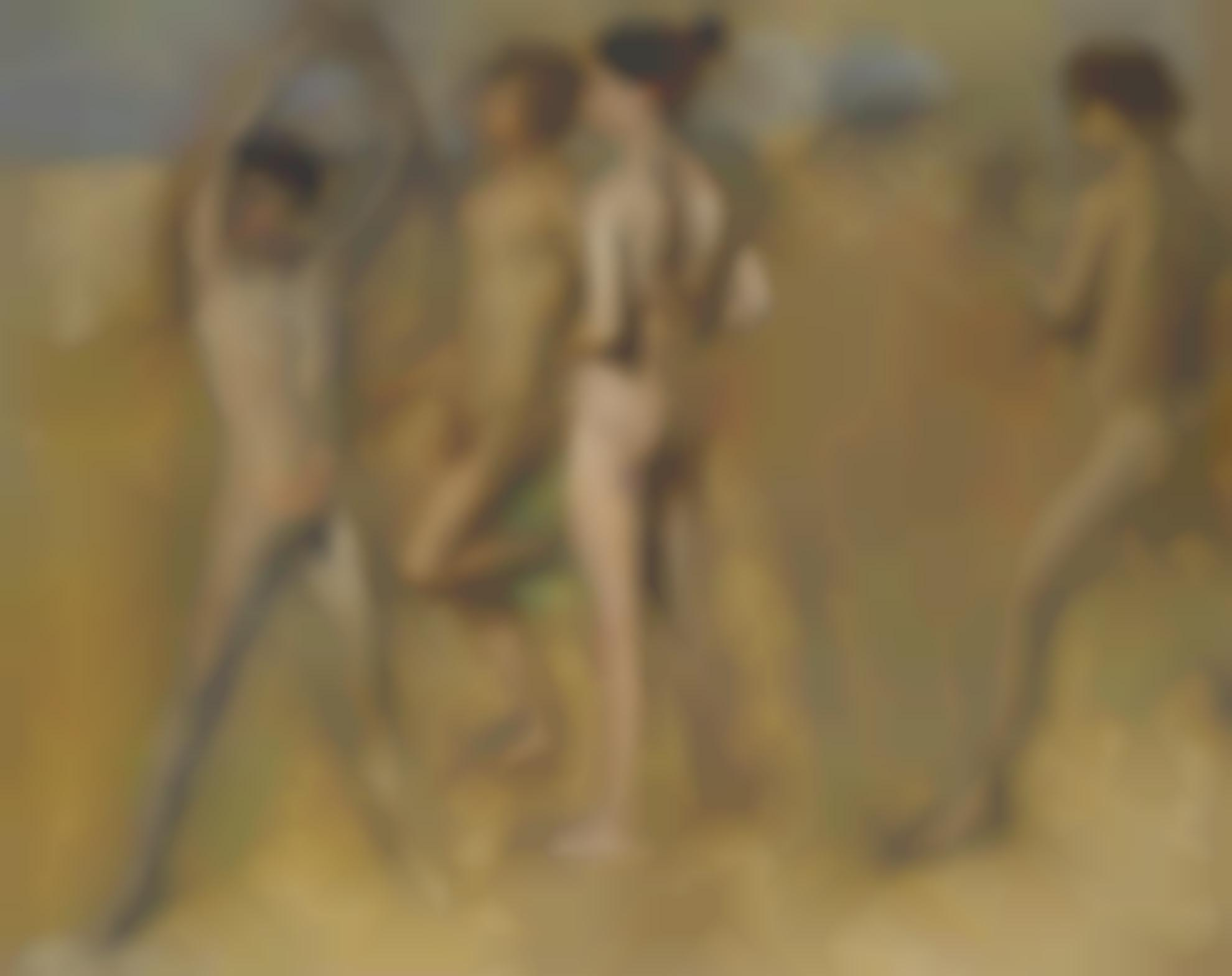 Edgar Degas-Petites Filles Spartiates Provoquant Des Garcons-1860
