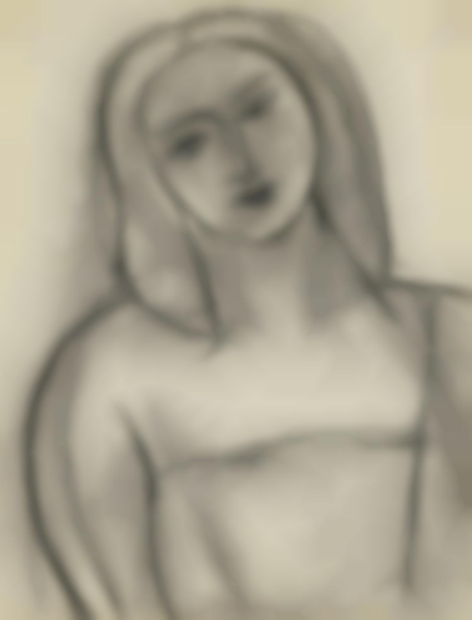 Henri Matisse-Tete De Femme-1950