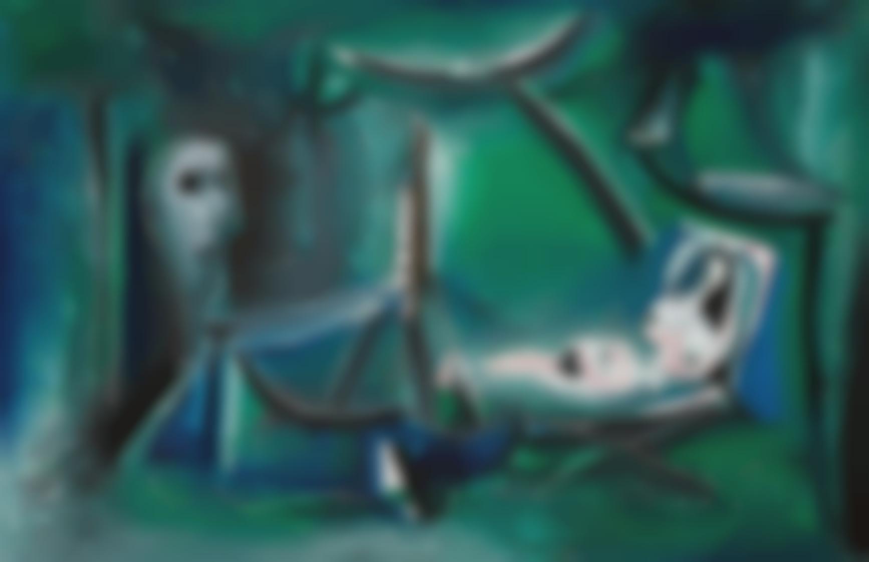 Pablo Picasso-Le Peintre Et Son Modele Dans Un Paysage-1963