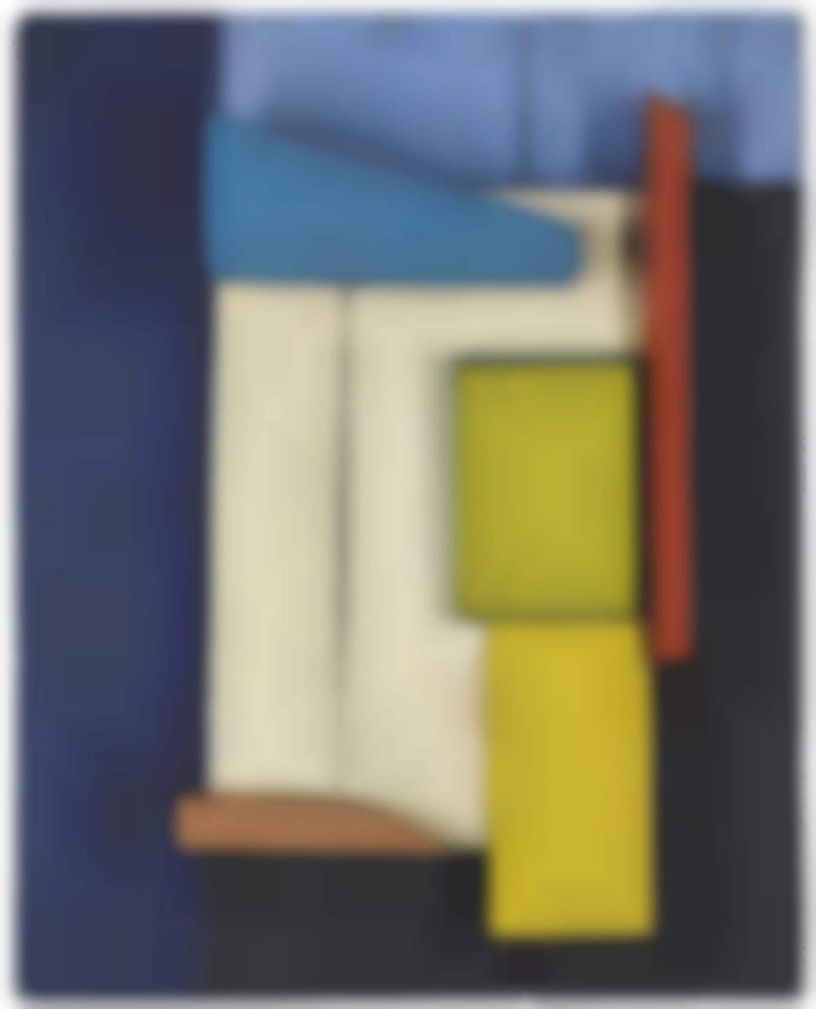 Kurt Schwitters-Blau (Blue)-1926