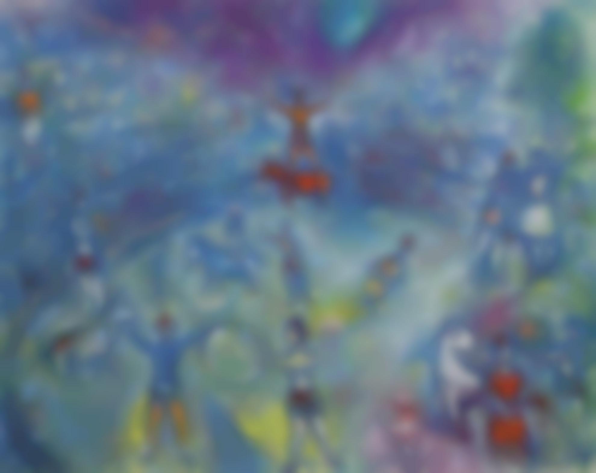 Marc Chagall-Scene De Cirque-1970