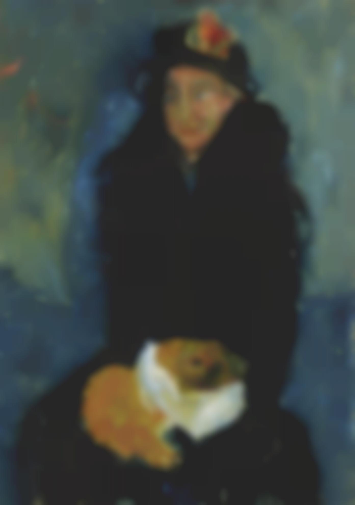 Chaim Soutine-La Vieille Dame Au Chien-1919