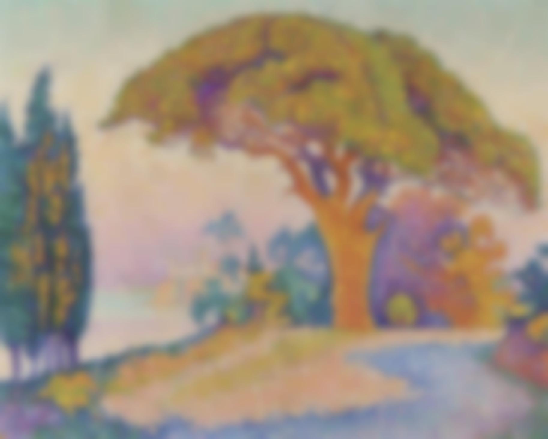 Paul Signac-Le Pin De Bertaud-1900