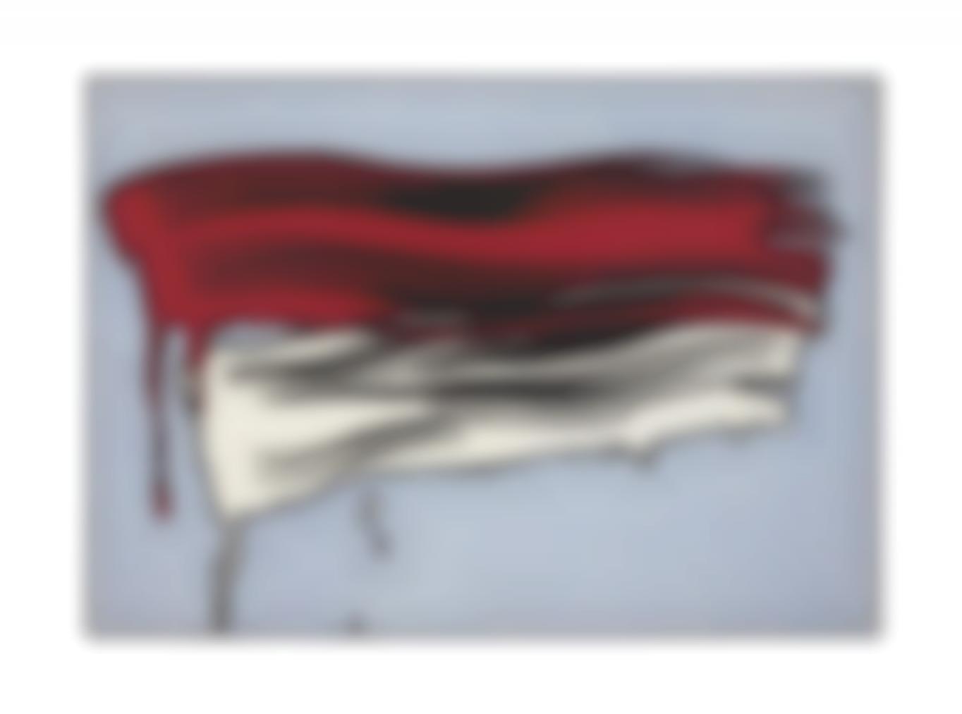 Roy Lichtenstein-Red And White Brushstrokes-1965