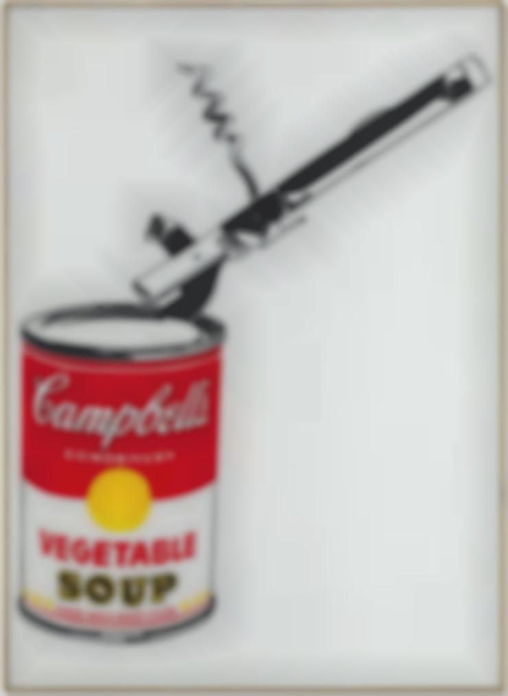 Andy Warhol-Big Campbells Soup Can With Can Opener (Vegetable)-1962