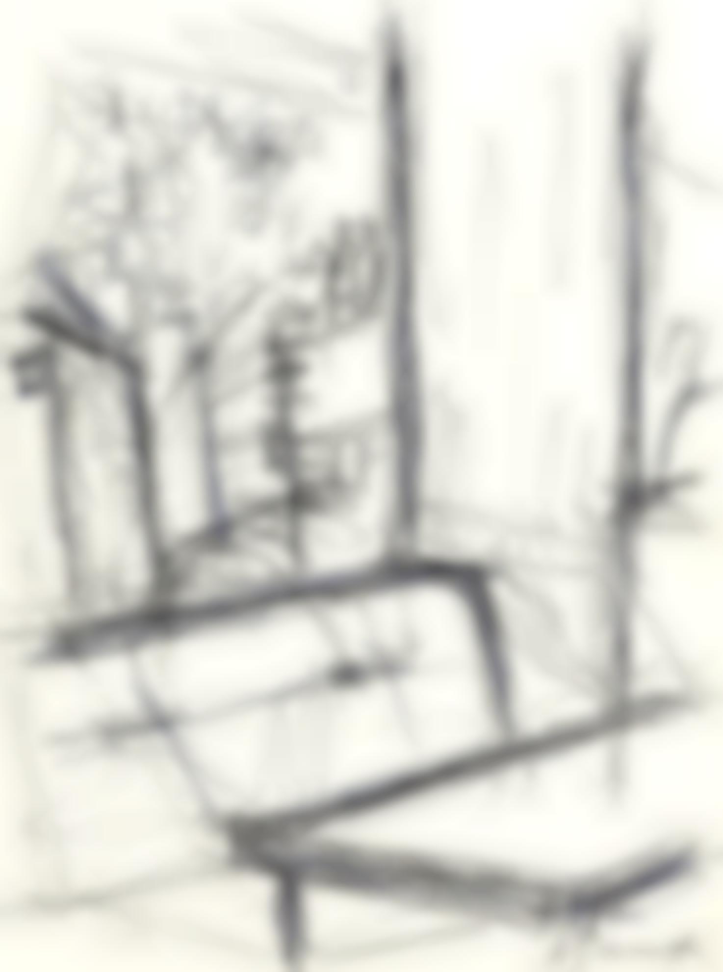 Alberto Giacometti-Interieur Dun Cafe-1960