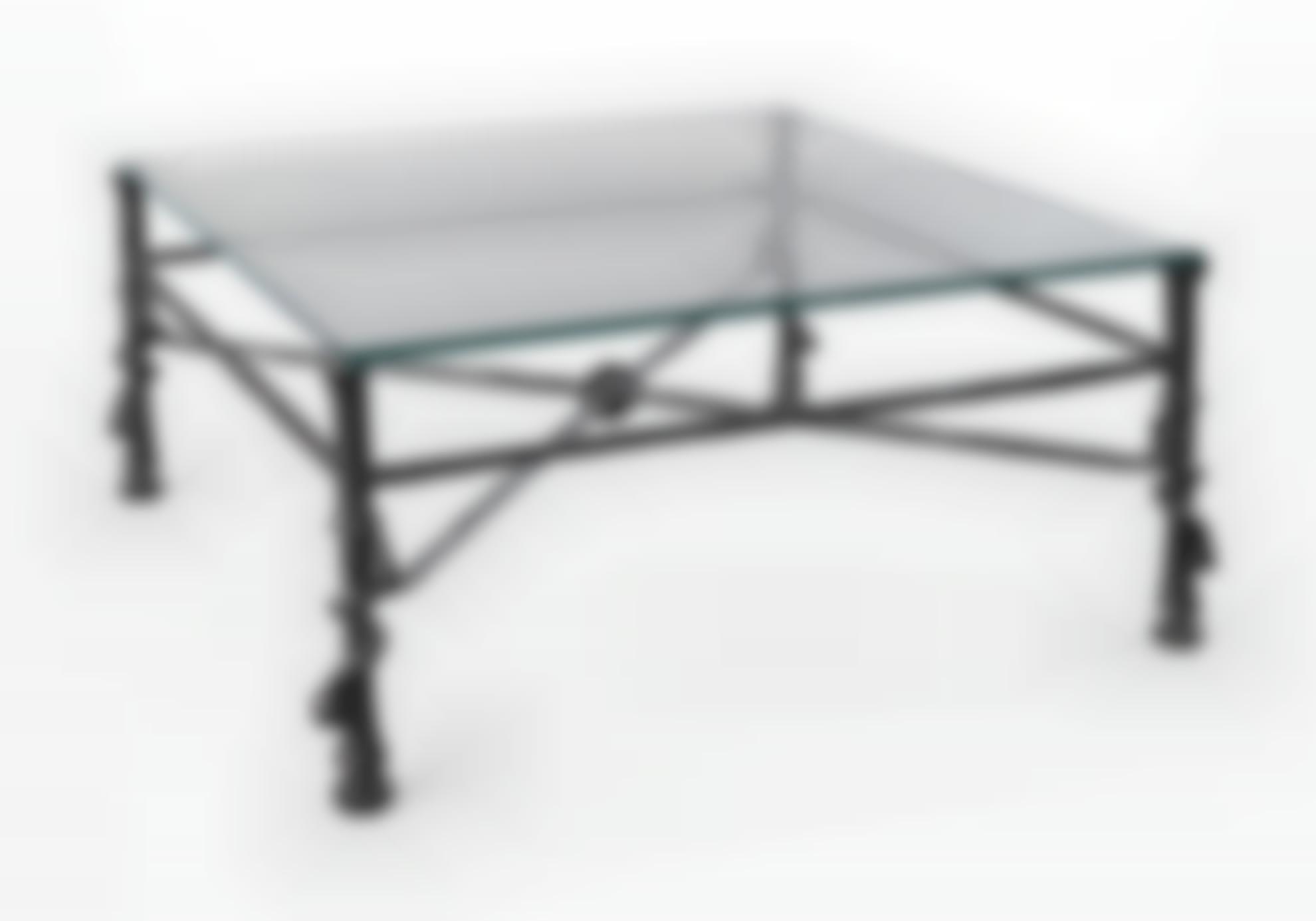 Diego Giacometti-Table Torsade, Modele Carre-1975