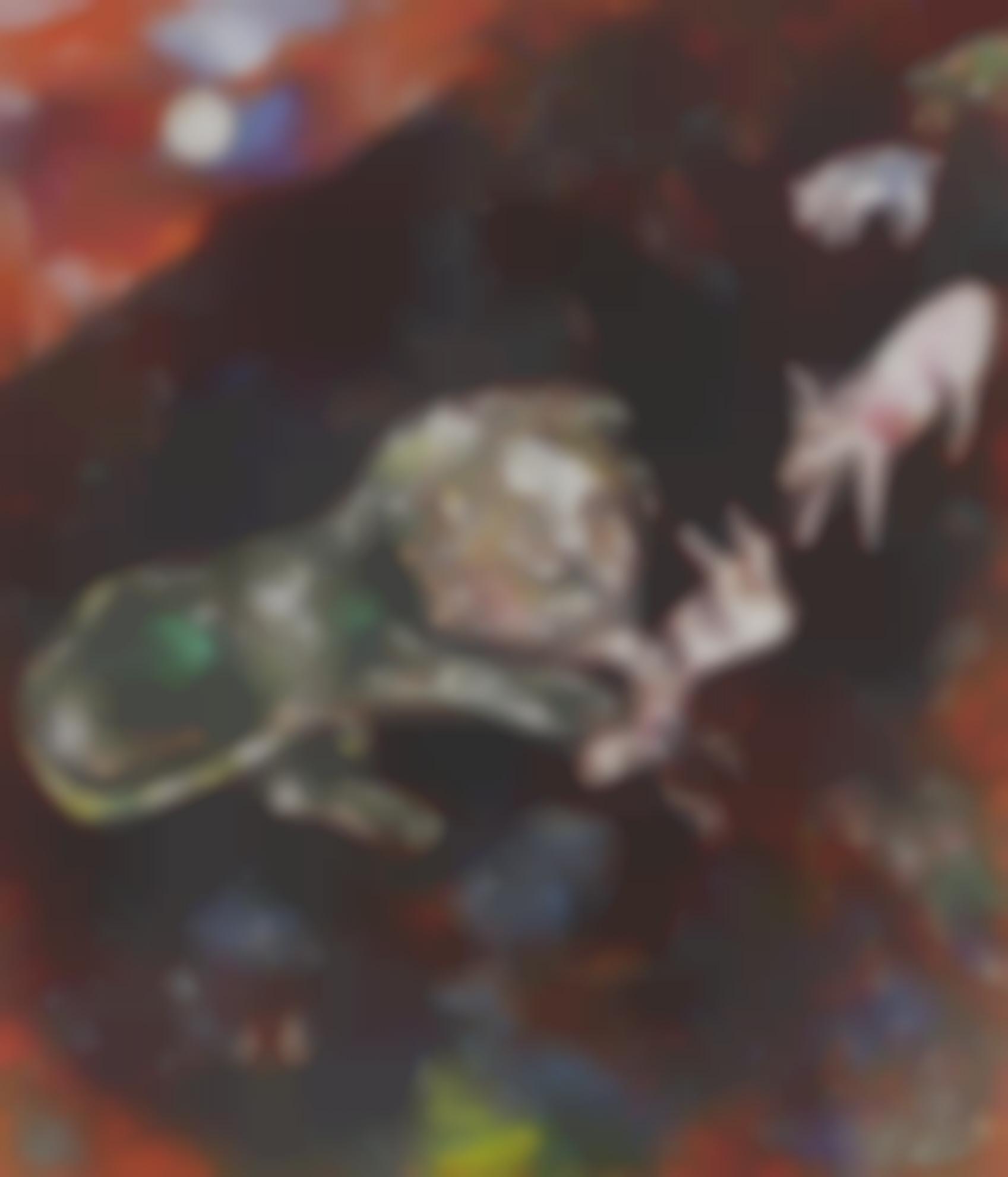 Marc Chagall-La Genisse, La Chevre Et La Brebis En Societe Avec Le Lion (Fables De La Fontaine)-1926