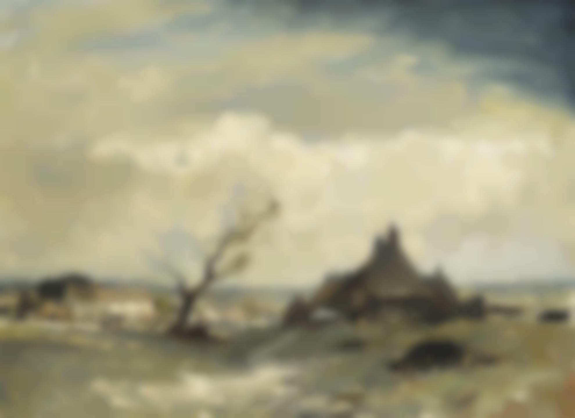 Edward Seago-The Cloudbank, Norfolk-