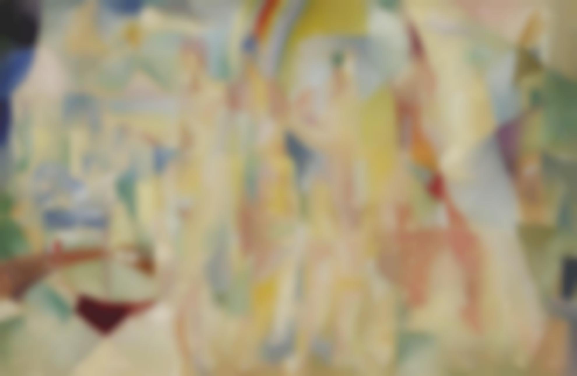 Robert Delaunay-La Ville De Paris, Esquisse-1914