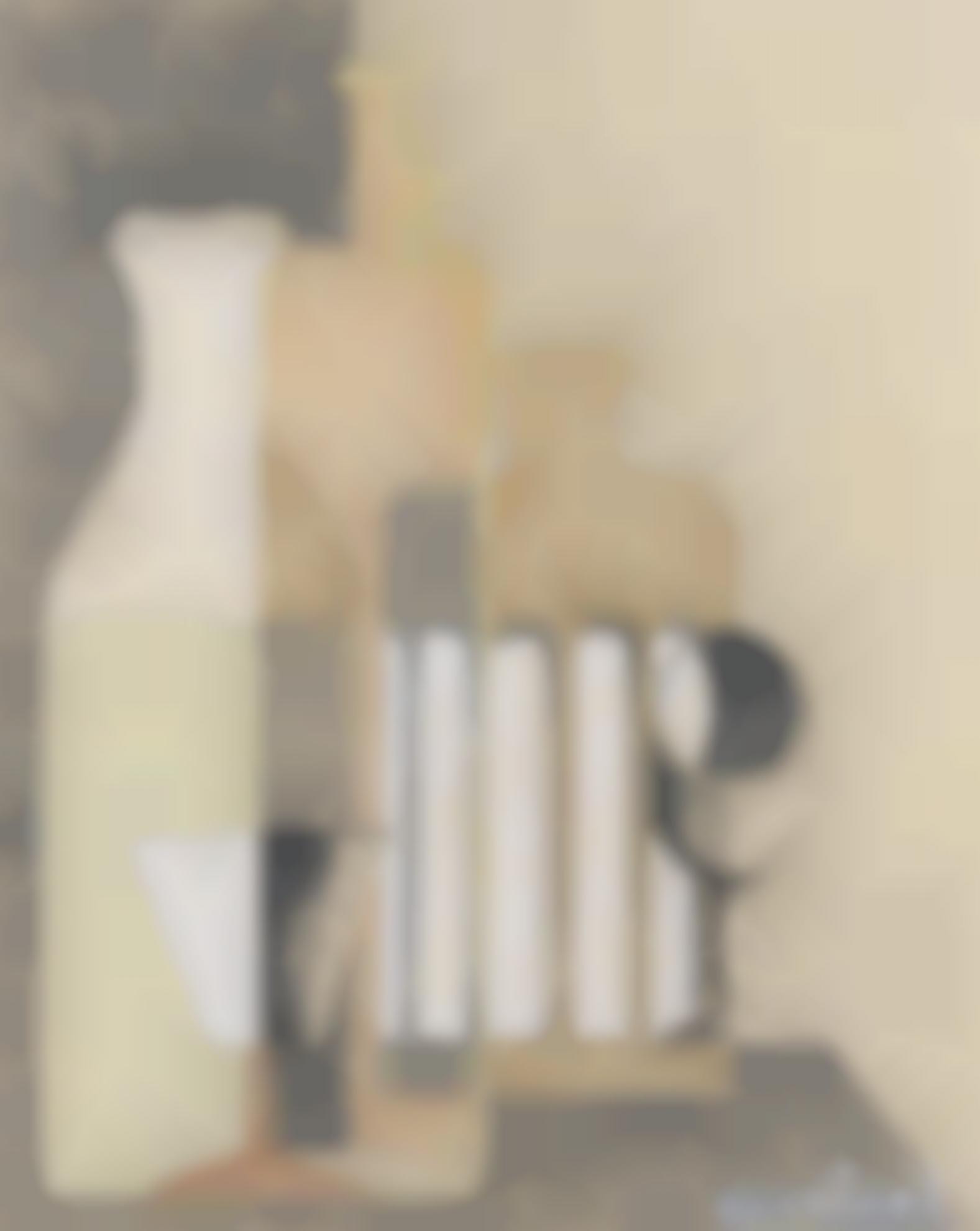 Amedee Ozenfant-Nature Morte Puriste Aux Deux Verres-1923