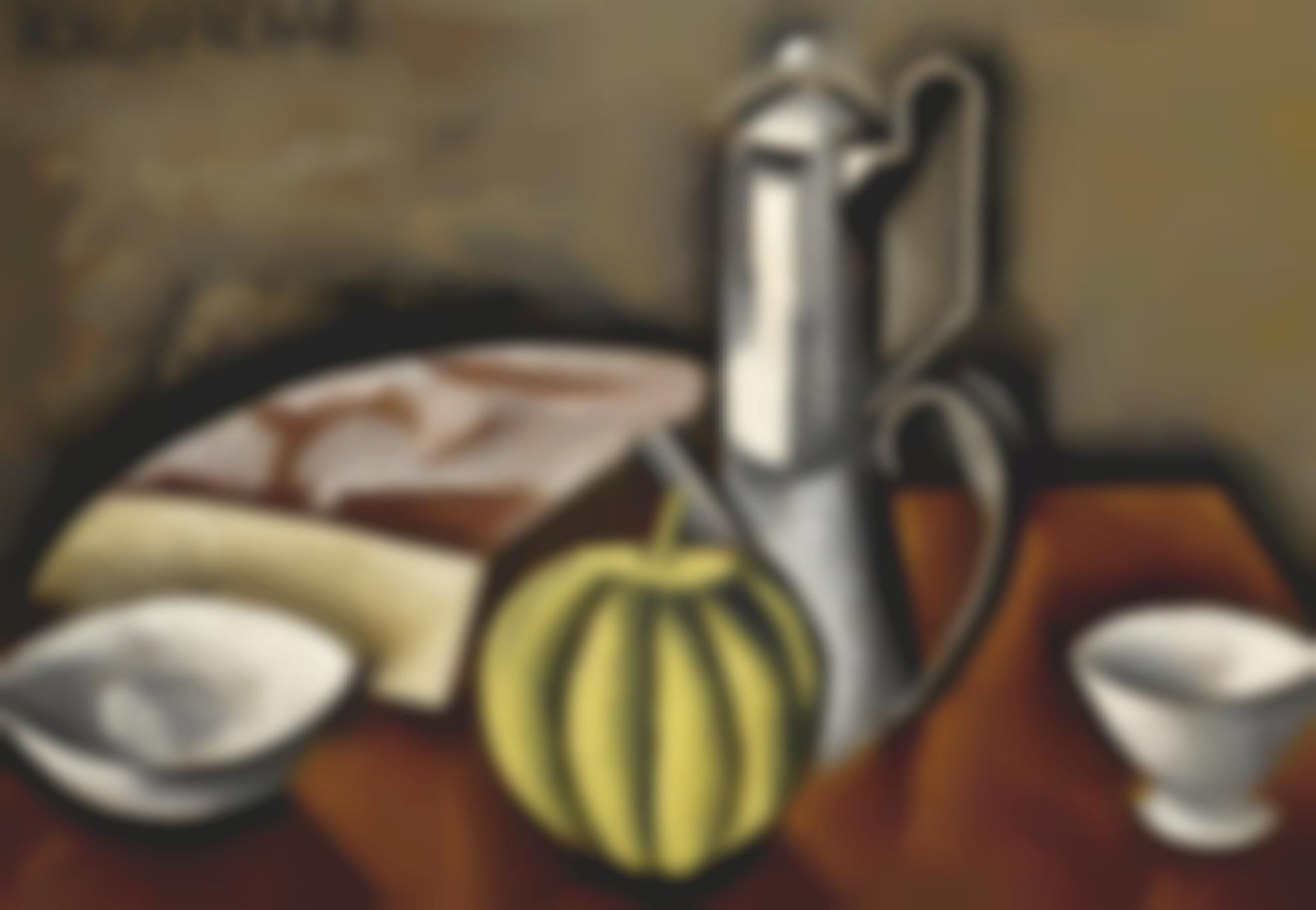 Roger de La Fresnaye-Nature Morte A La Cafetiere Et Au Melon-1911