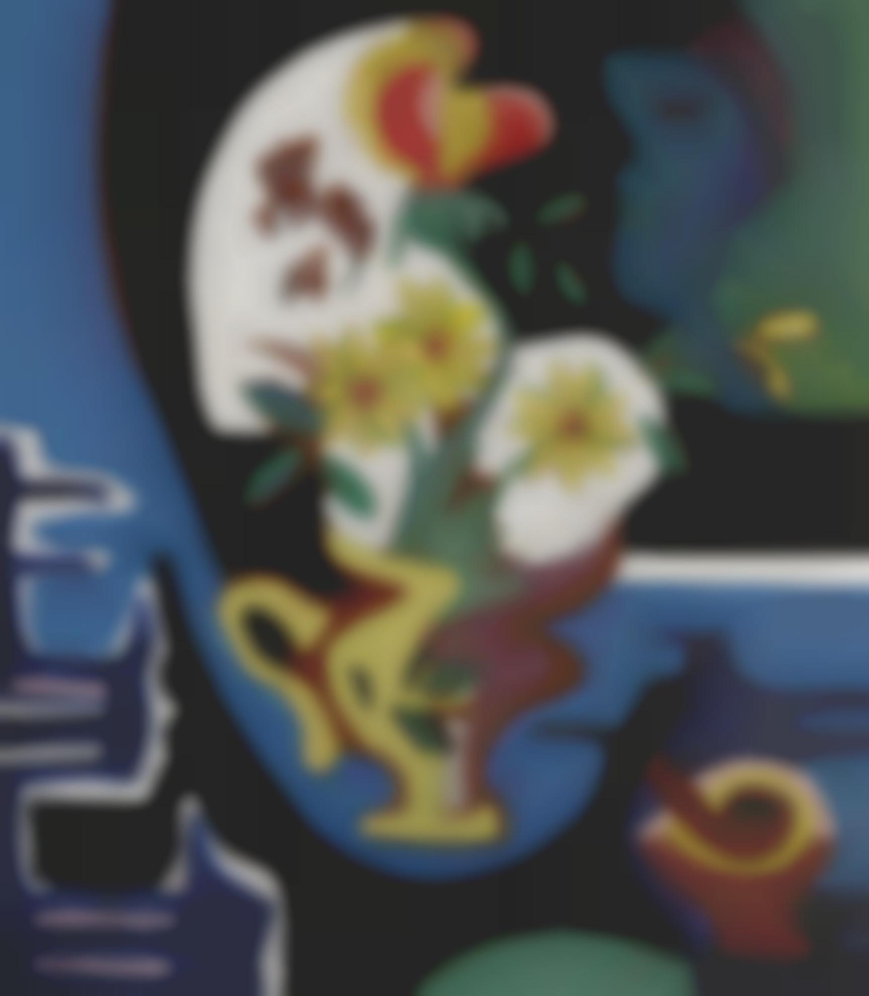Ernst Ludwig Kirchner-Blumenvase (Still Life With Flowers)-1928