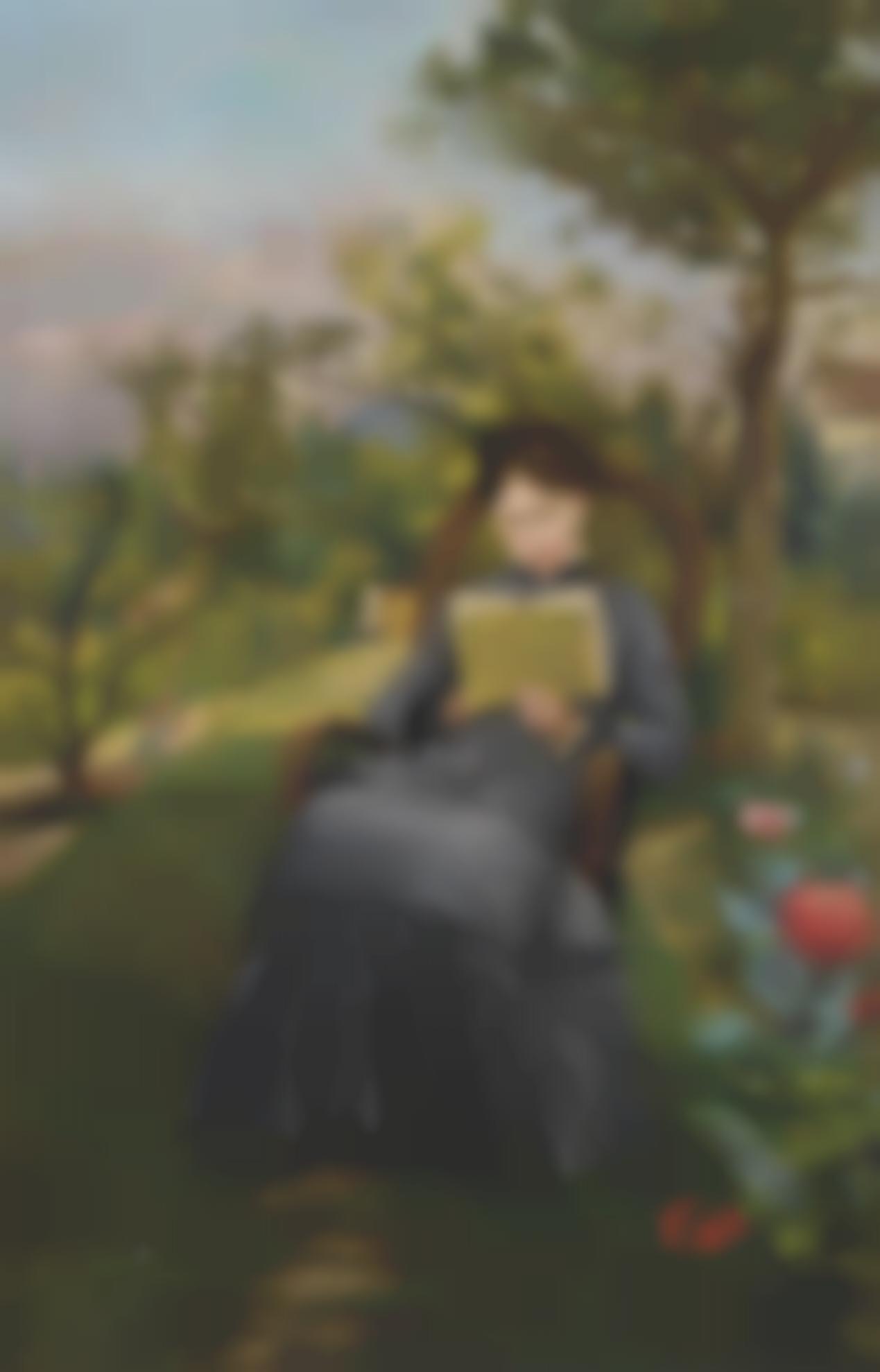 Frederic Bazille-Therese Lisant Dans Le Parc De Meric-1867