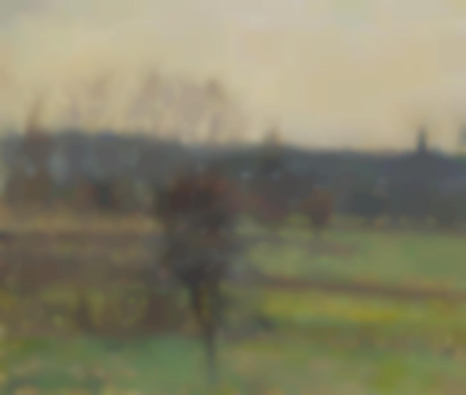 Camille Pissarro-Vue De Bazincourt En Hiver-1898