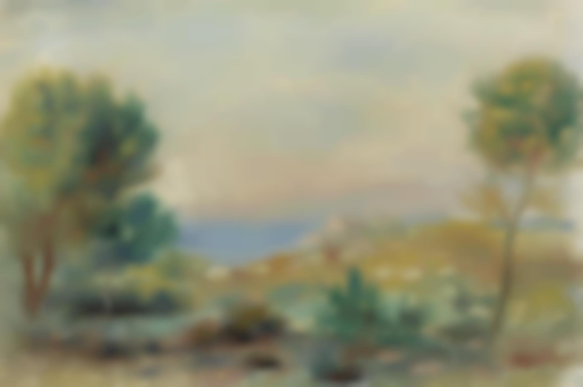 Pierre-Auguste Renoir-Paysage De Bord De Mer-1900