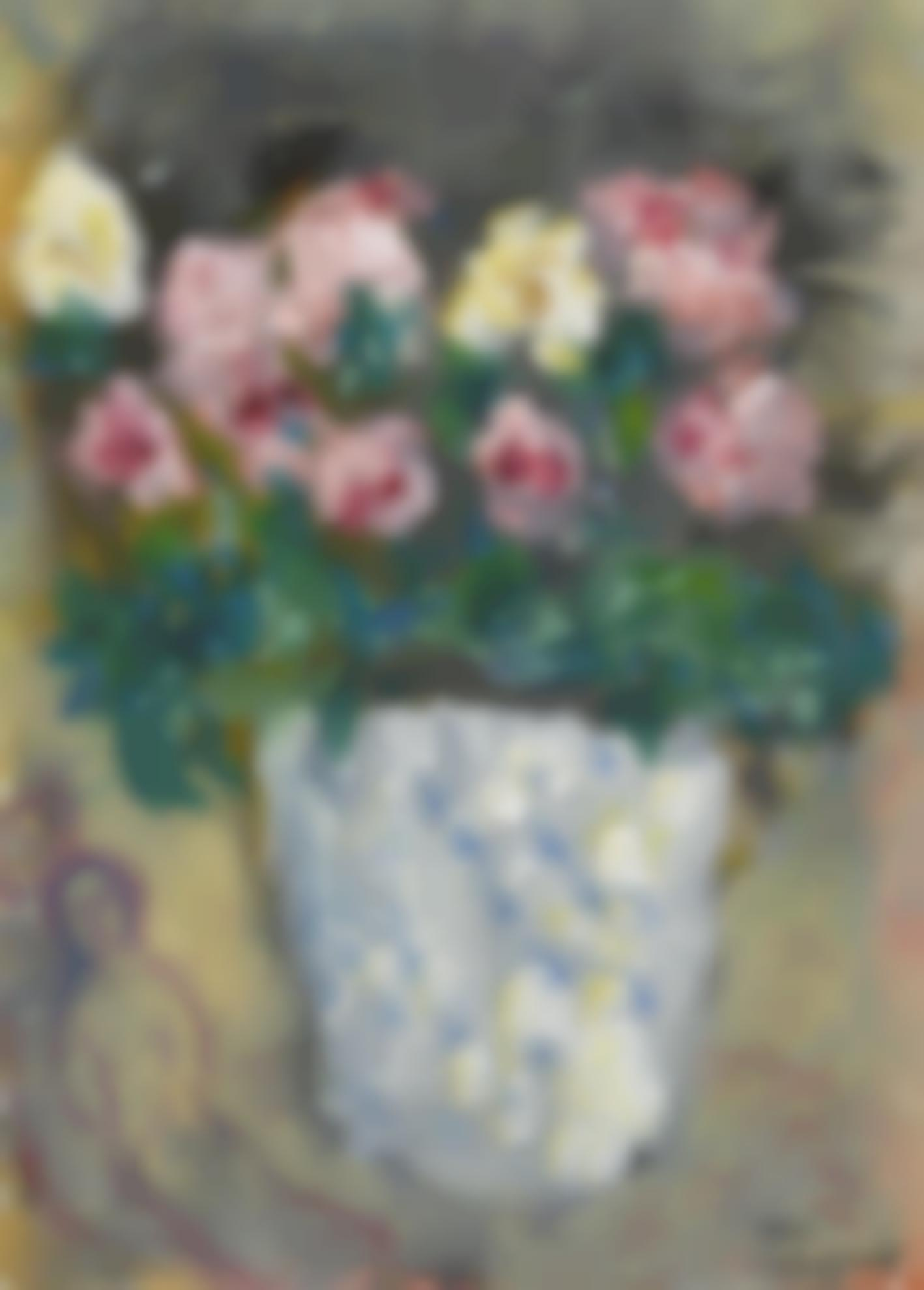 Marc Chagall-Pot Aux Fleurs, Roses-1975