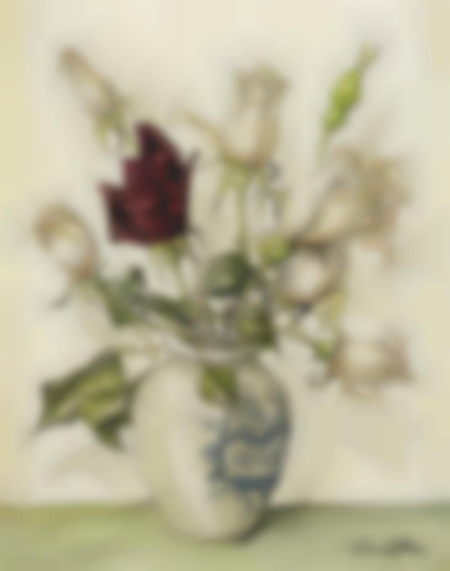 Tsuguharu Foujita-Les Premieres Roses Dete-